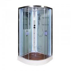 Душевая кабина A 09 LED с гидромассажем (90x90)