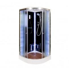 Душевая кабина Deto B 01 S Led Black (100x100)