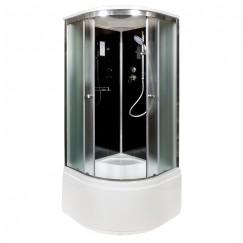 Душевая кабина Deto B 10 S Black с электрикой (100x100)