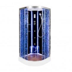 Душевая кабина Deto BM 1510 LED Black с гидромассажем (100x100)