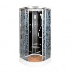 Душевая кабина Deto BM 1590 Black с электрикой (90x90)