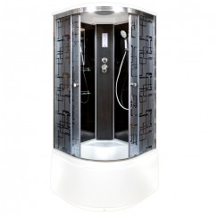 Душевая кабина Deto BM 4510 Black с электрикой (100x100)