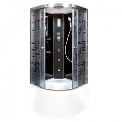 Душевая кабина Deto BM 4510 Black с электрикой и гидромассажем (100x100)