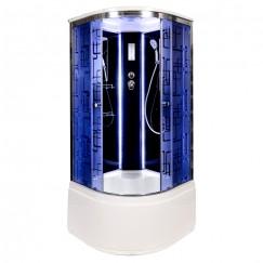 Душевая кабина Deto BM 4510 LED Black (100x100)