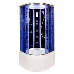 Душевая кабина Deto BM 4510 LED Black с гидромассажем (100x100)