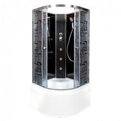 Душевая кабина Deto BM 4510 N Black с гидромассажем (100x100)