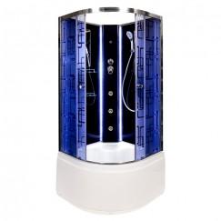Душевая кабина Deto BM 4510 N LED Black с гидромассажем (100x100)