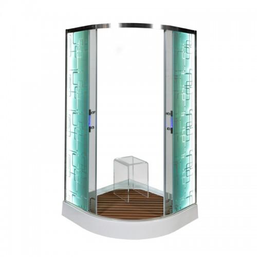 Душевая уголок Deto С 01 LED (100x100)