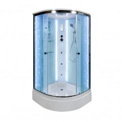 Душевая кабина Deto EM 2710 LED с гидромассажем (100x100)