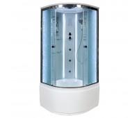 Душевая кабина Deto EM 4510 LED с гидромассажем (100x100)